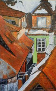 Sighisoara winter roofs