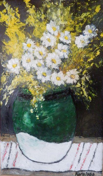 Daisies and yellow flowers - Maria Karalyos