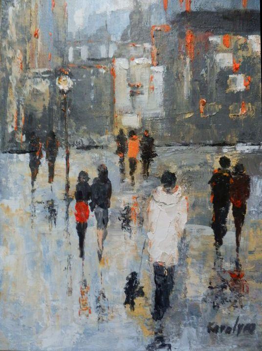 Walk in an autumn evening - Maria Karalyos