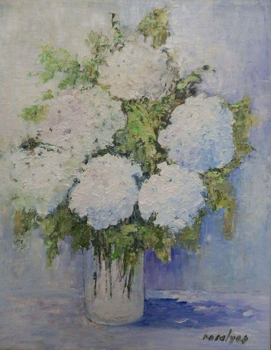 White hydrangeas - Maria Karalyos