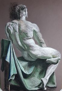 Seated nude - GALLERIE