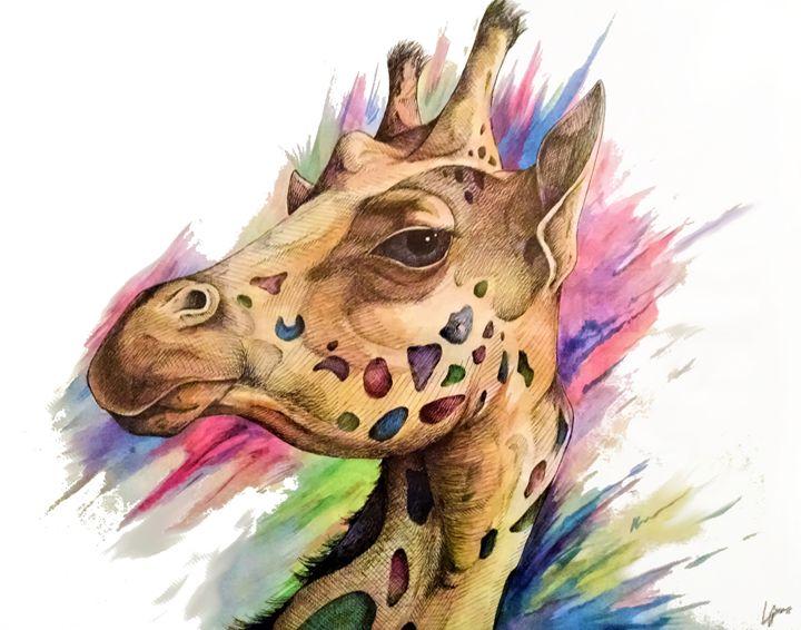 Giraffe - Luke Graves Art