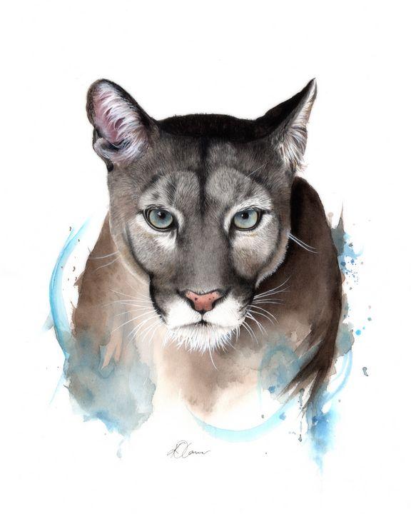 Puma Watercolour Painting - Kieran O'Connor