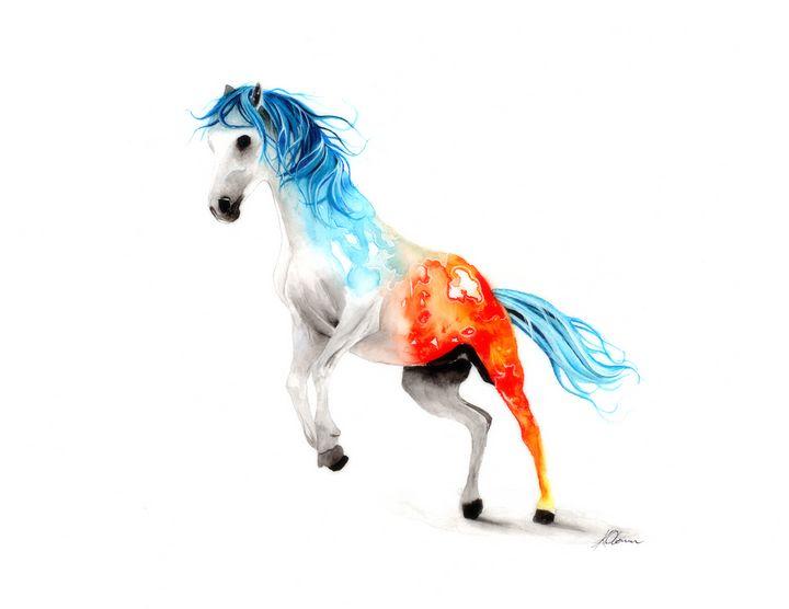 Watercolour Horse painting - Kieran O'Connor