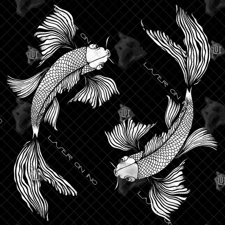 koi-art2-12in - Laser On Inc