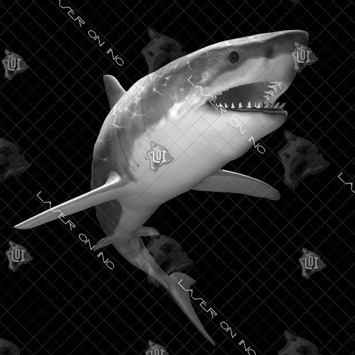 shark-hunt-12in - Laser On Inc