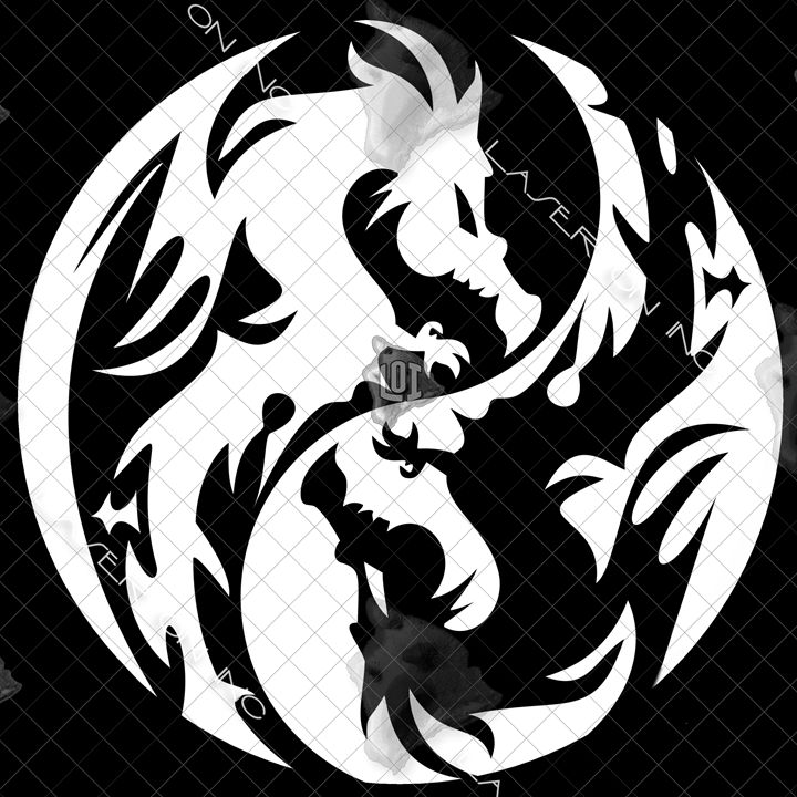 yinyang-dragons12in - Laser On Inc