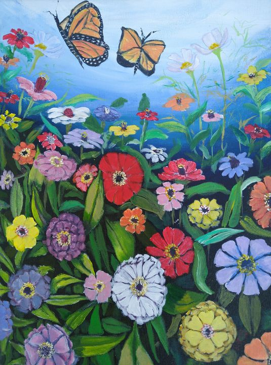 CINDY'S ZINNIA GARDEN - Romani Berlekov Creations
