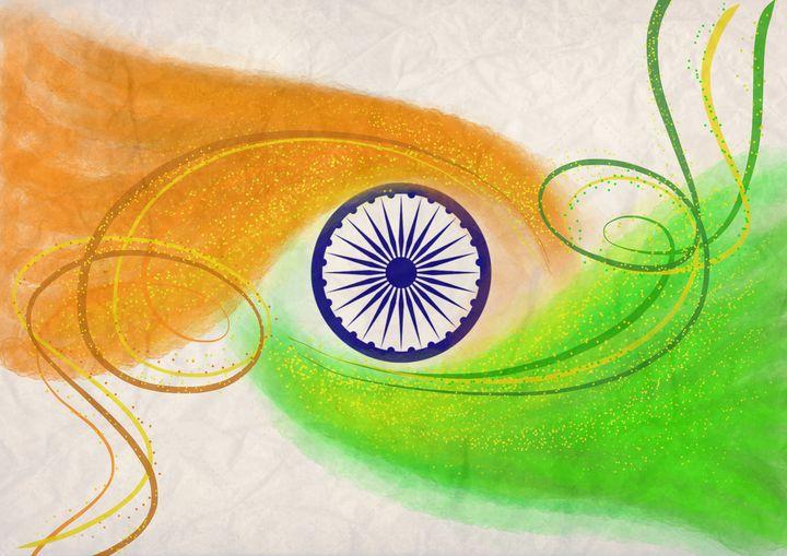 Indian tricolour power - Ysn.kishore