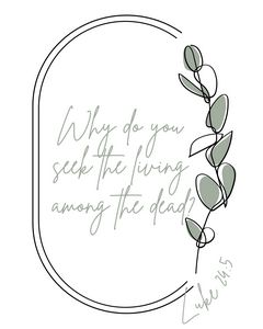 Living among the dead