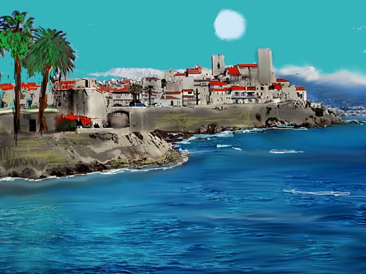 antibes sun - the french riviera paintings by gary trigg