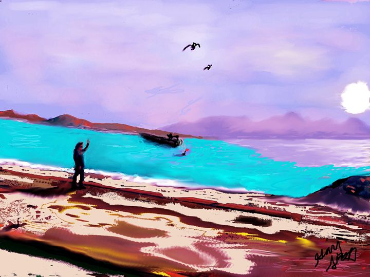 love is out there riviera - the french riviera paintings by gary trigg