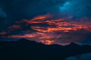 Sunrise at Idaho Peak