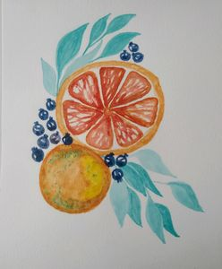 Orange and berries