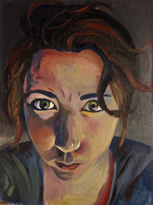 Self Portrait in Oil - Amanda Claire Geller