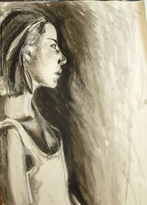 Portrait in Charcoal #2 - Amanda Claire Geller