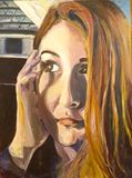 """""""Kami"""" 22X30 oil painting of a woman"""