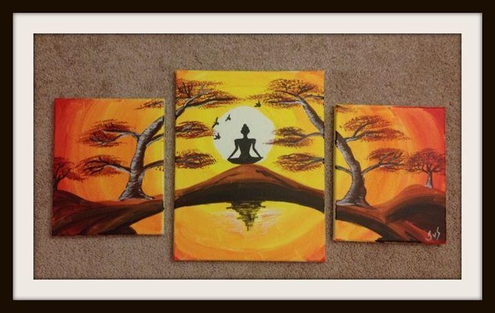 Group painting - Meditation - AYANO
