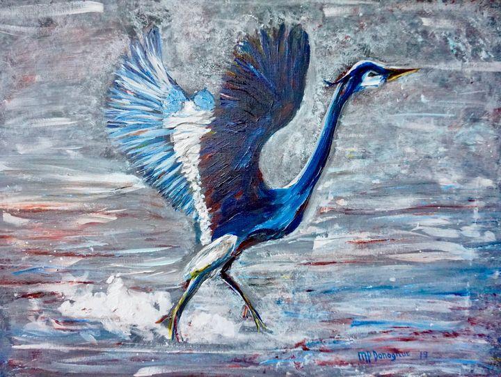 Great Blue Heron- Taking Flight - Donoghue Design- Wall Art