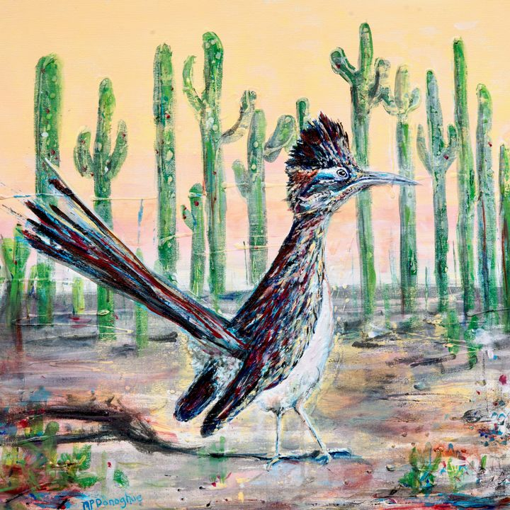 Roadrunner of Arizona Southwest Bird - Donoghue Design- Wall Art