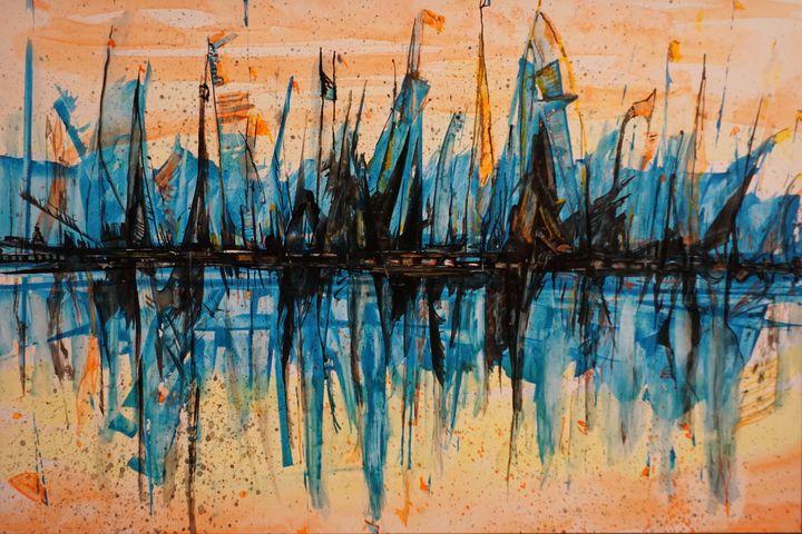 Sea Harbor-Abstract-Marina - Donoghue Design- Wall Art