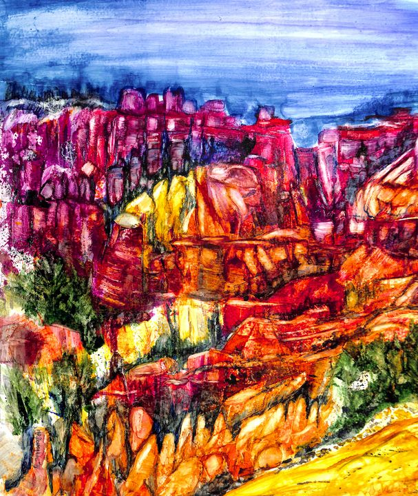 Canyon Color- Rock- Abstract - Donoghue Design- Wall Art