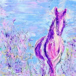 Pink Pony - Animal Abstract - Donoghue Wall Art