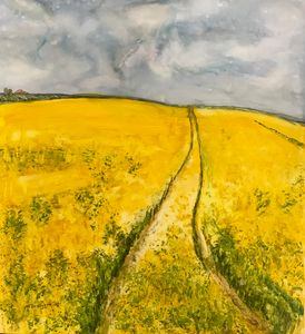 Hurry Home, Yellow fields, Landscape