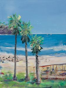 La Jolla Beach - Abstract - Triptych