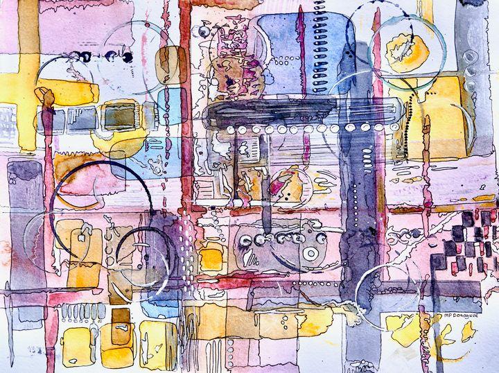 Bold Circuit - Geometric Abstract - Donoghue Design- Wall Art