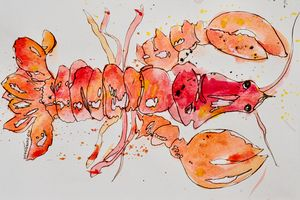 Lobster - abstract impressions