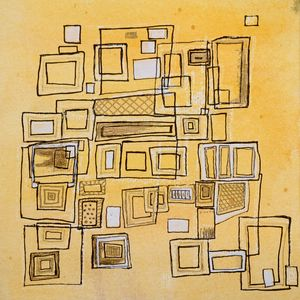 Mid-Century-Yellow- Abstract