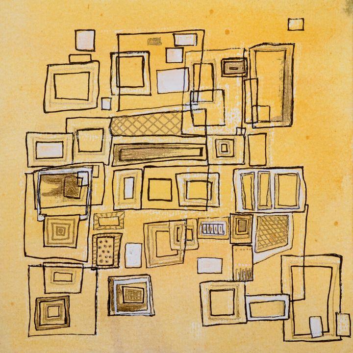 Mid-Century-Yellow- Abstract - Donoghue Design- Wall Art
