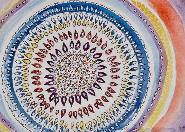 Round- Southwest style- abstract - Donoghue Design- Wall Art