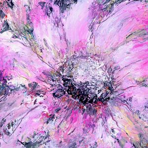 Creamy Pink Single Bloom - Donoghue Wall Art