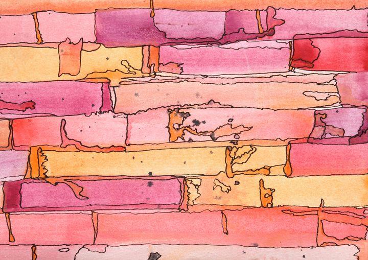 Brick Wall - abstract expression - Donoghue Design- Wall Art