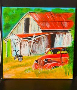 Acrylic on 12×12' Canvas