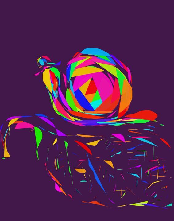 Psyche Snail - Artistry by Gruffy Print