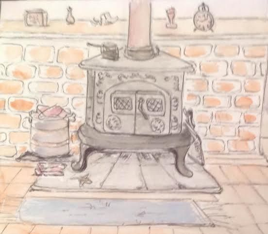 Bridgetown Fireplace - Artistry by Gruffy Print