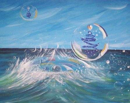 Sea Bubbles - Artistry by Gruffy Print