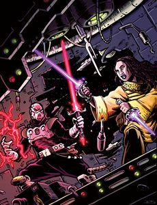 Star & Void Knights Duel in Space - Jeshields