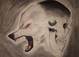 Wolf/skull
