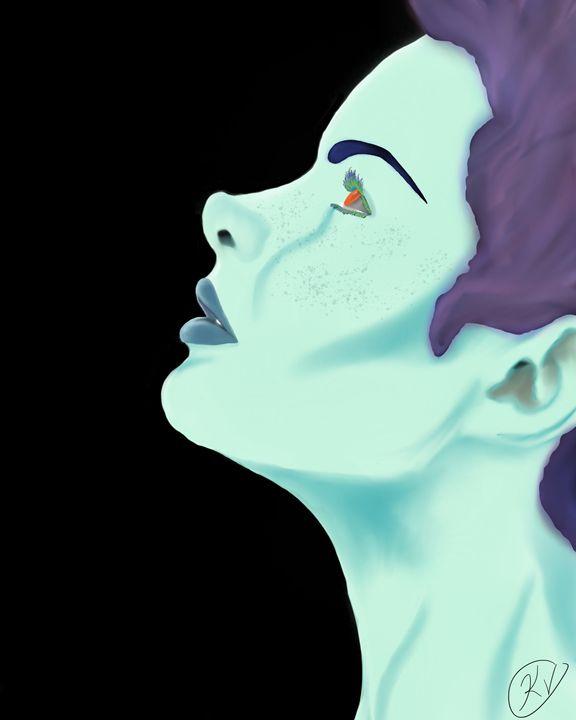 Blue - Mistic Art
