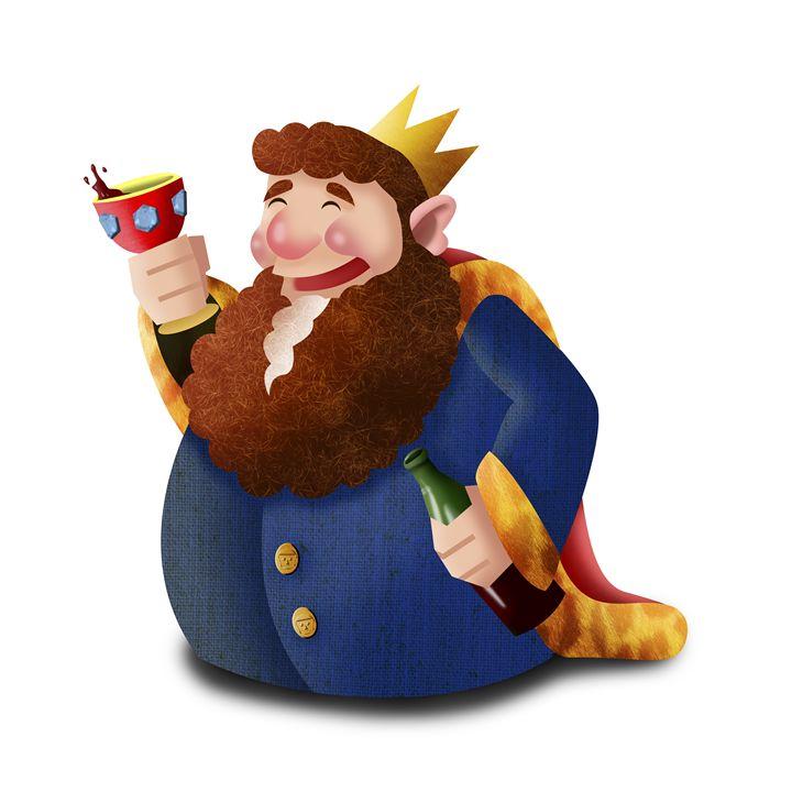 King of cups - Sloe Illustration
