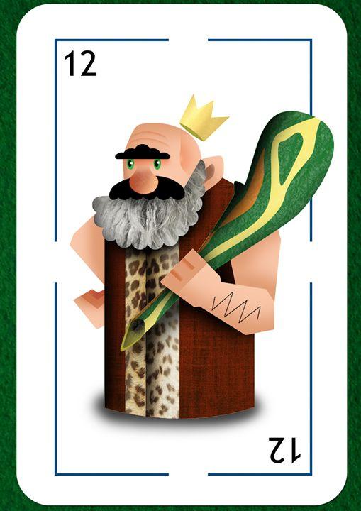 King of clubs - Sloe Illustration