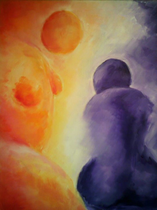 Let Me Comfort You - Colorful Expressions by Jennifer Hannigan-Green