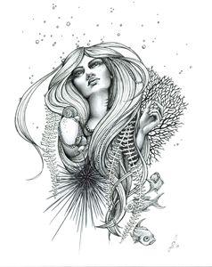 """Ink Illustration """"Reefer"""""""