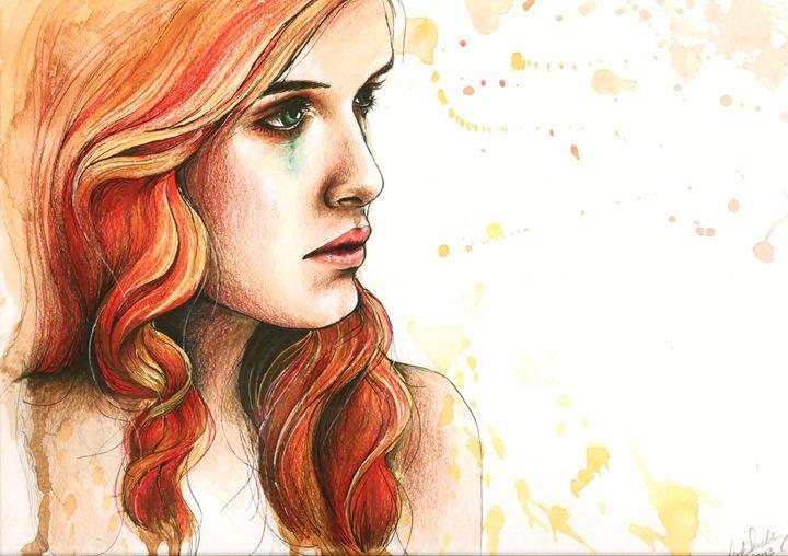 "Watercolor ""Further from you"" - Leah Sandberg // Studio330"