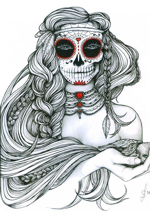 """Ink Illustration """"Jiibay II"""" - Leah Sandberg // Studio330"""