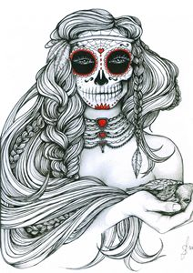 "Ink Illustration ""Jiibay II"""